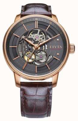 FIYTA Montre automatique pour homme en cuir marron GA860016.PHK