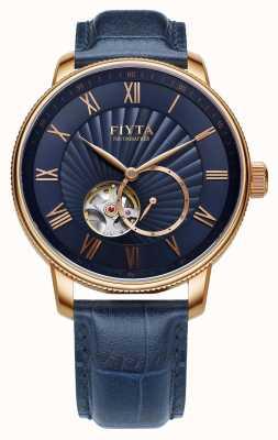 FIYTA Hommes photographe montre cuir bleu GA860015.PLL