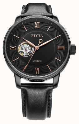FIYTA Hommes photographe noir cuir montre automatique GA860013.BBB