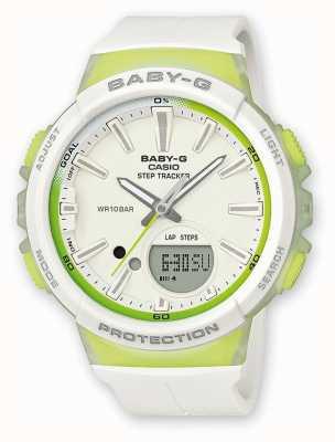 Casio Montre vert / blanc pour bébé baby-g step tracker BGS-100-7A2ER