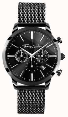 Thomas Sabo Montre chronomètre noir en acier inoxydable WA0291-287-203-42