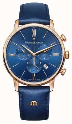 Maurice Lacroix Eliros chronographe montre bleu et or EL1098-PVP01-411-1