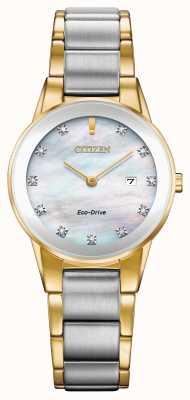 Citizen Axiom Diamond Date Two Tone Femme GA1054-50D