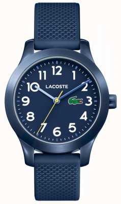 Lacoste 12.12 montre enfant bracelet en caoutchouc bleu marine 2030002