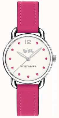 Coach Womans delancey montre bracelet en cuir rose 14502906