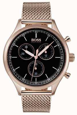 Hugo Boss Bracelet chronographe compagnon pour homme en or rose 1513548