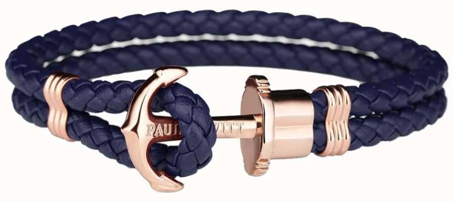 Paul Hewitt Jewellery Phrep rose or ancre cuir de marine en cuir moyen PH-PH-L-R-N-M