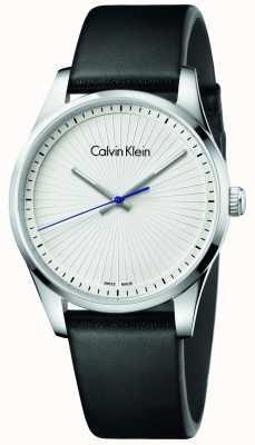 Calvin Klein Montre sans fin unissexe cuir noir K8S211C6