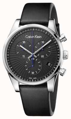 Calvin Klein Chronographe indépendant unisexe noir K8S271C1