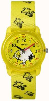 Timex Jeune analogique bracelet jaune woodstock snoopy TW2R41500JE
