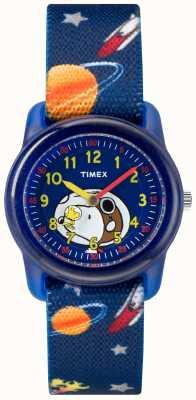 Timex Jeunesse analogique bracelet bleu snoopy espace extra-atmosphérique TW2R41800JE