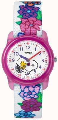 Timex Bracelet Snoopy analogique blanc pour jeunes TW2R41700JE
