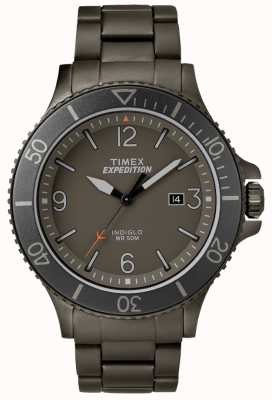 Timex Mens expédition ranger pistolet métal bracelet gris cadran TW4B10800