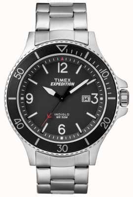 Timex Hommes expédition ranger bracelet en métal cadran noir TW4B10900