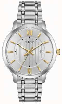 Bulova Montre classique en acier inoxydable pour homme 98B306