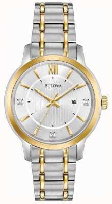 Bulova Montre habillée classique en acier inoxydable pour femme 98P175