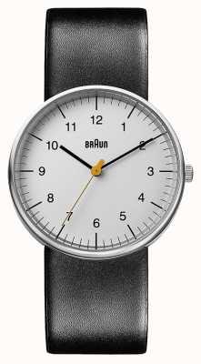 Braun Montre en cuir noir unisexe BN0021BKG