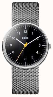 Braun Montre bracelet en maille d'acier unisexe BN0021BKSLMHG