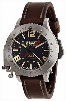 U-Boat Edition limitée U-42 GMT Bracelet en cuir marron 50 mm 8095