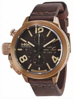 U-Boat Classico 50 bronze ca br automatique en cuir marron 8064