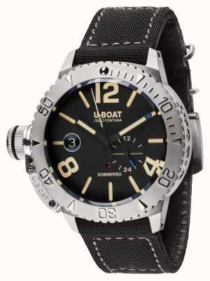 U-Boat Sommerso 46 bk bracelet en caoutchouc / nylon noir automatique 9007