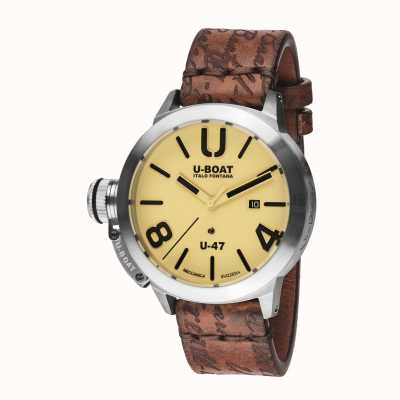 U-Boat Bracelet en cuir marron automatique Classico 47 as2 8106
