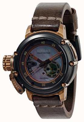 U-Boat Chimera 43 b & b nacre bracelet en cuir marron automatique 8069