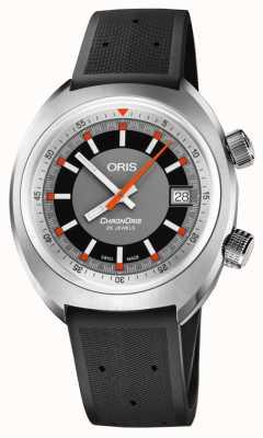Oris Chronoris date cadran gris bracelet en caoutchouc noir 01 733 7737 4053-07 4 19 01FC