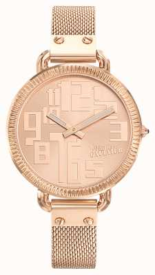 Jean Paul Gaultier Womens index or rose pvd maille or rose cadran JP8504308