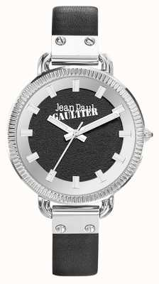 Jean Paul Gaultier Bracelet en cuir noir index femme JP8504312