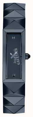 Jean Paul Gaultier Womens mini punk bleu acier inoxydable cadran bleu JP8504004