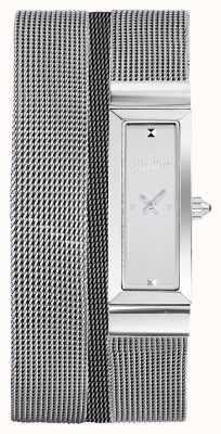 Jean Paul Gaultier Womens cote de maille bracelet en maille d'acier inoxydable JP8503901