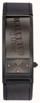 Jean Paul Gaultier Bracelet en cuir gris d'identité gris JP8503703