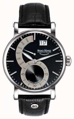 Bruno Sohnle Montre Pesaro ii 43mm en cuir noir 17-13073-781