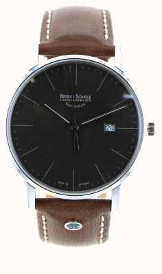 Bruno Sohnle Stuttgart i 42mm montre en cuir marron 17-13175-841