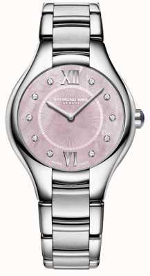 Raymond Weil Womans noemia diamant quartz montre de nacre 5132-ST-00986