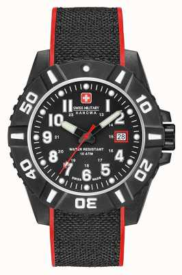 Swiss Military Hanowa Bracelet en silicone noir pour homme 06-4309.17.007.04SM
