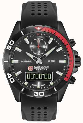 Swiss Military Hanowa Mens multimission cadran noir silicone noir 06-4298.3.13.007