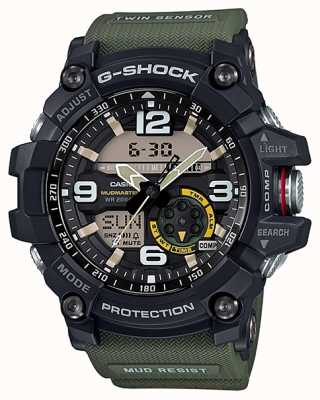 Casio G-shock mudmaster capteur double boussole vert sangle GG-1000-1A3ER