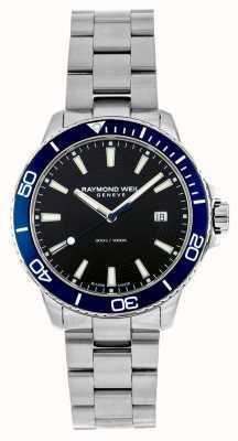 Raymond Weil Lunette tango bleu montre en acier inoxydable 8260-ST3-20001