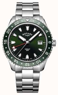 Rotary Mens henley vert en acier inoxydable montre à quartz GB05108/24