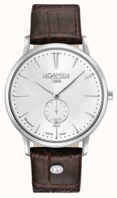 Roamer Bracelet en cuir marron pour hommes de la ligne d'avant-garde 980812411509