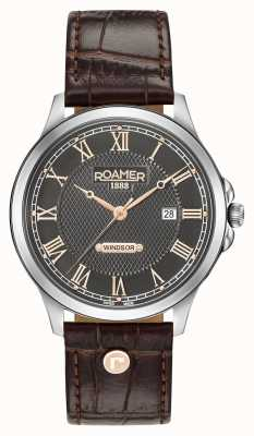 Roamer Bracelet en cuir marron windsor pour homme 706856410207