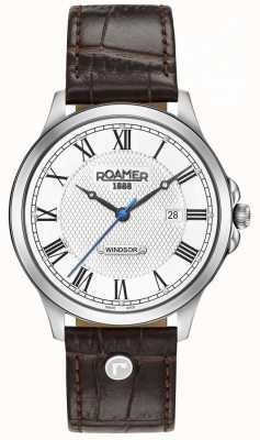 Roamer Bracelet en cuir marron windsor pour homme 706856411207