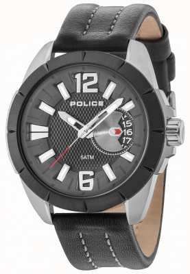 Police Pochette pour homme oitcher bracelet en cuir noir 15240JSUB/02