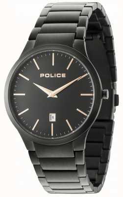 Police Horizon bracelet noir cadran noir 15246JSB/02M