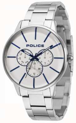 Police Bracelet Swift en acier inoxydable avec cadran argenté 14999JS/04M