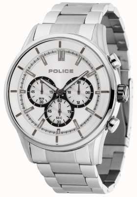 Police Bracelet Rush en acier inoxydable avec cadran argenté 15001JS/04M