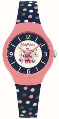 Cath Kidston Bracelet floral bleu avec bracelet à pois multicolore CKL027UP