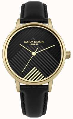 Daisy Dixon Bracelet noir avec cadran noir mat DD056BG